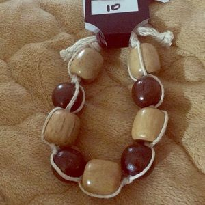 Jewelry - Wooden beads adjustable bracelet